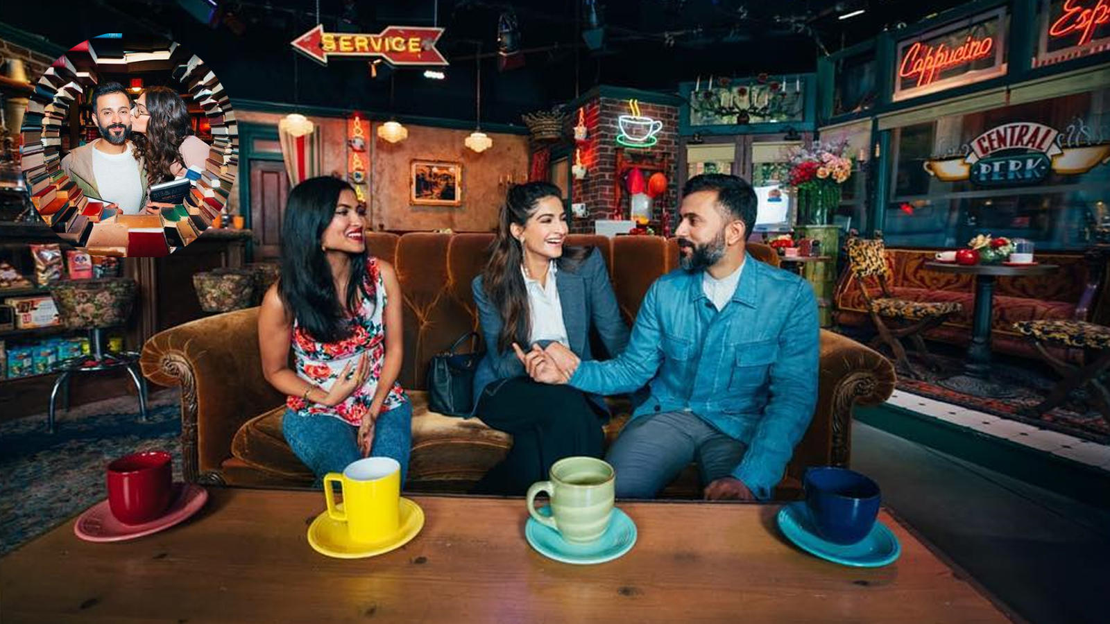 Sonam Kapoor, Anand Ahuja chill on the sets of 'FRIENDS' in LA and its just picture perfect!