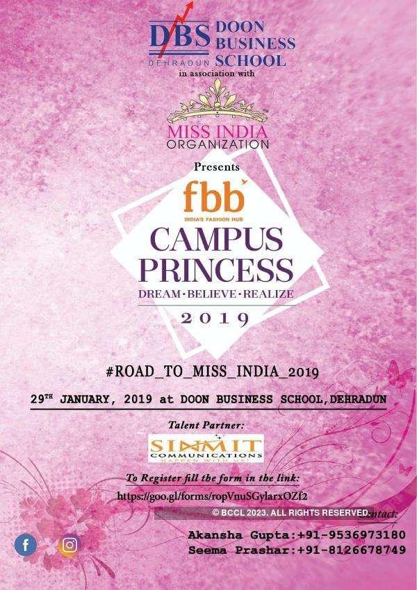 Campus Princess 2019 auditions in Dehradun