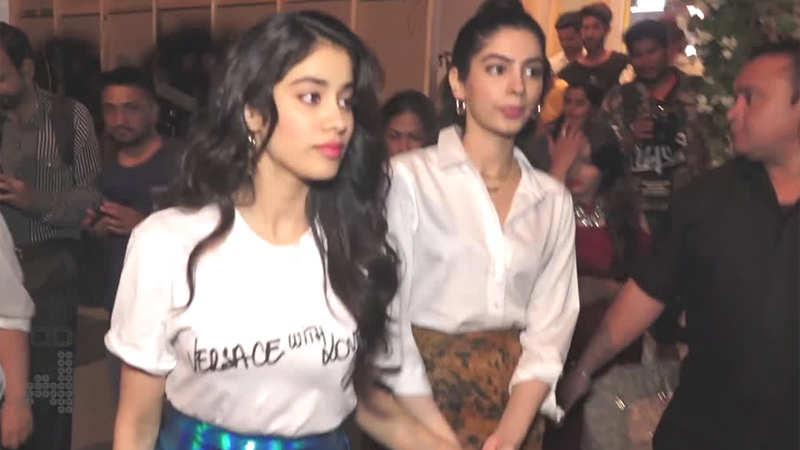 Janhvi Kapoor shields sister Khushi Kapoor from paparazzi