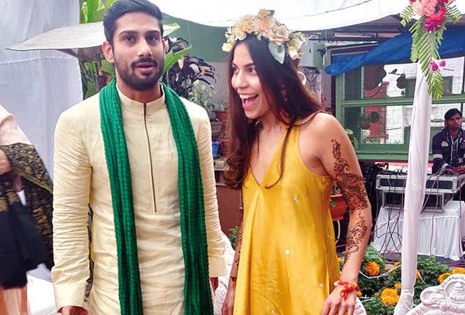 The couple during the haldi-mehendi ceremonies held at Sanya's house in Gomti Nagar (BCCL)