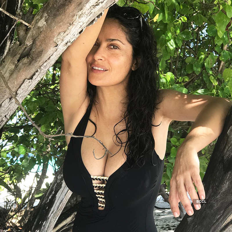 Ageless beauty Salma Hayek ups the glam quotient with her bikini pictures