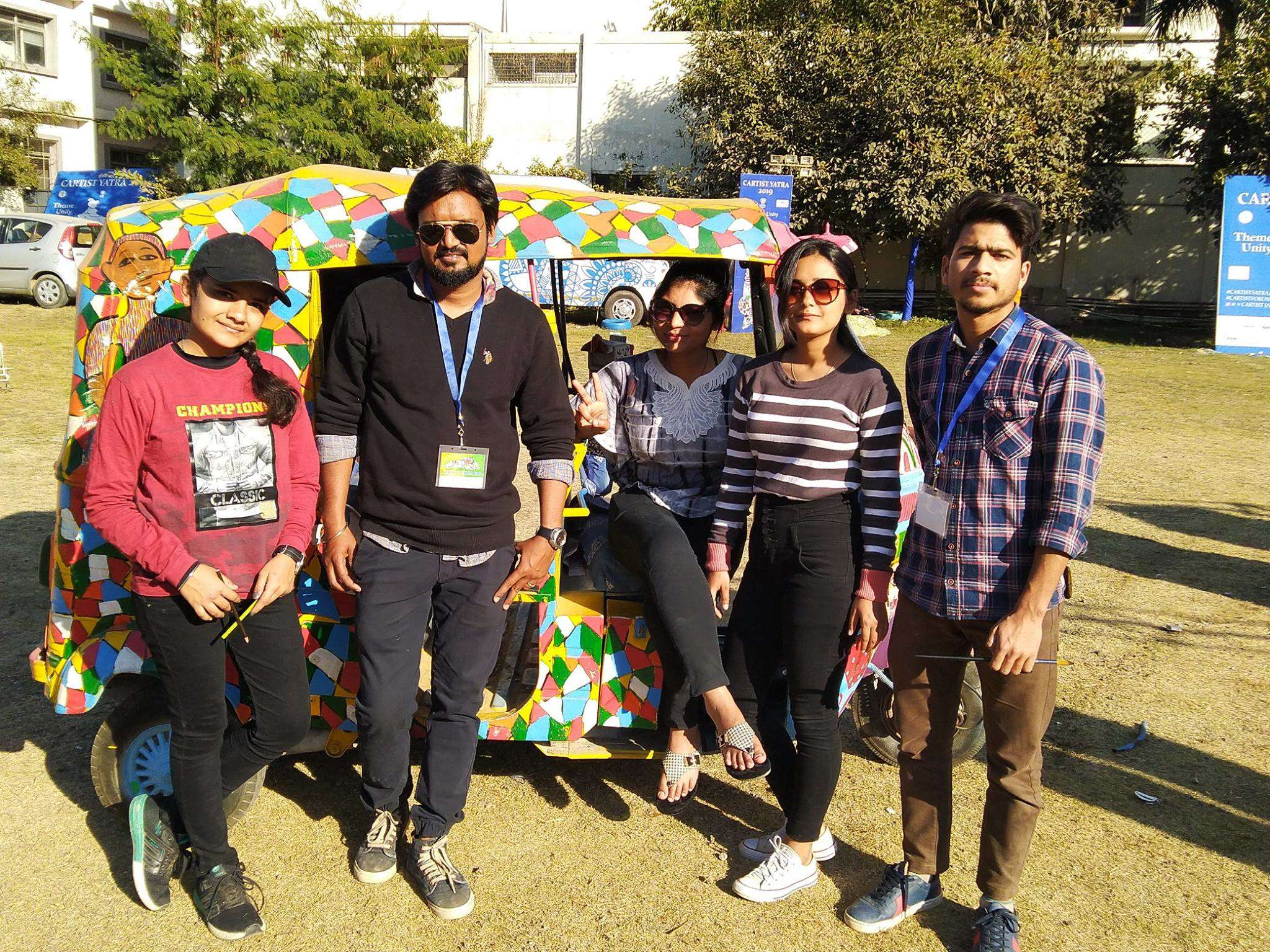 Students making the most of the exhibition (1)