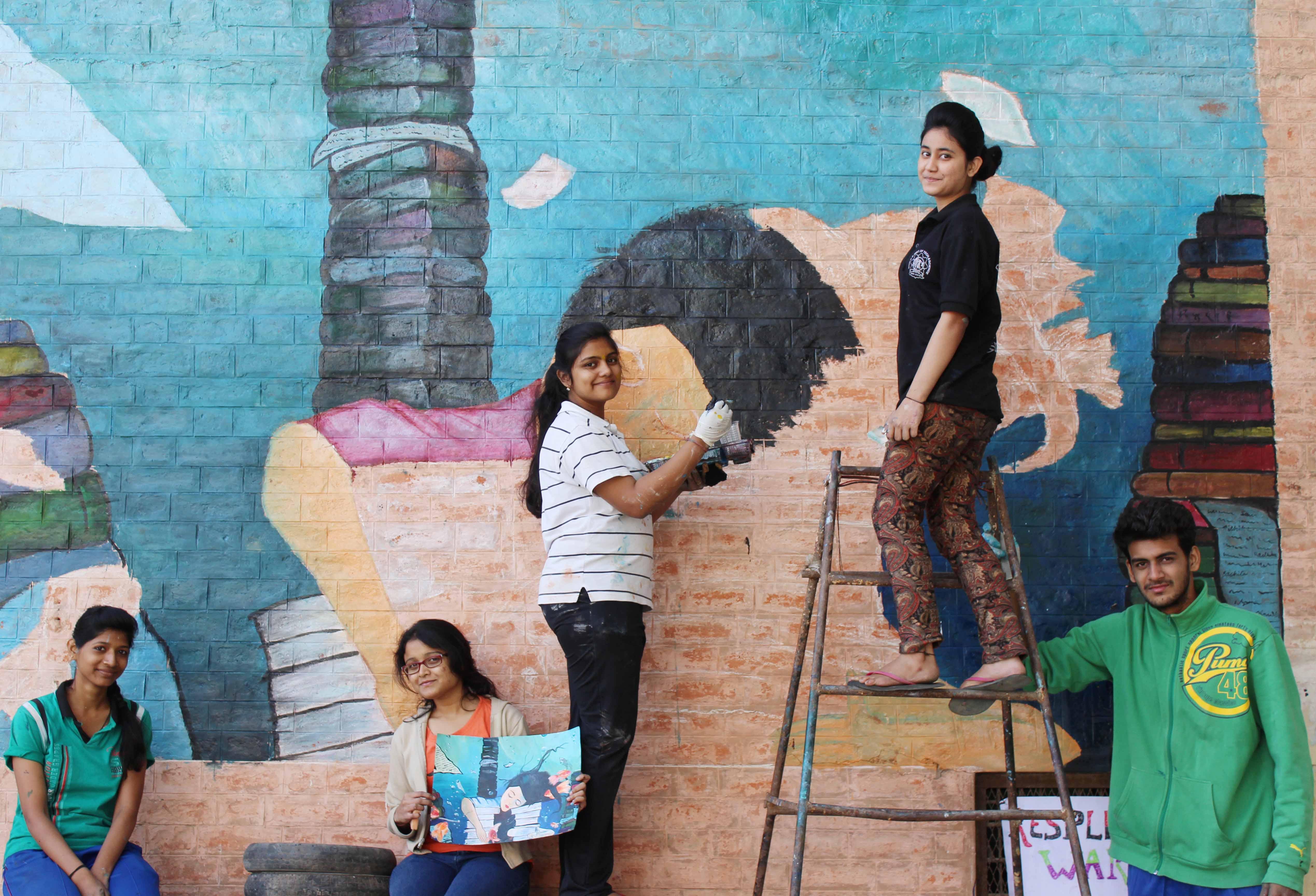 Wall paintings at SGSITS (1)