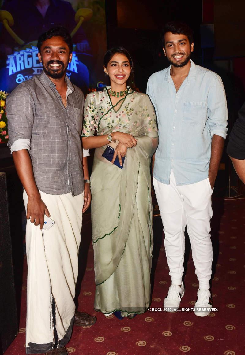 Celebs attend the trailer launch of films 'Argentina Fans Kaattoorkadavu' and 'Allu Ramendran'