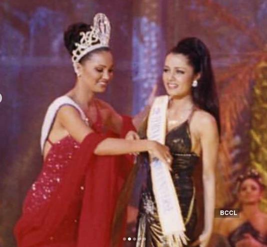 When Lara Dutta crowned Celina Jaitely her successor