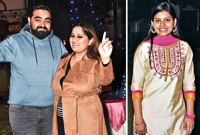 (L) Jatin and Pragati Ahuja (R) Sameeksha (BCCL/ Farhan Ahmad Siddiqui)
