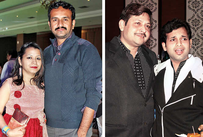 (L) Priyanka and Anuj (R) Rajeev Agrawal and Ayush (BCCL/ Arvind Kumar)