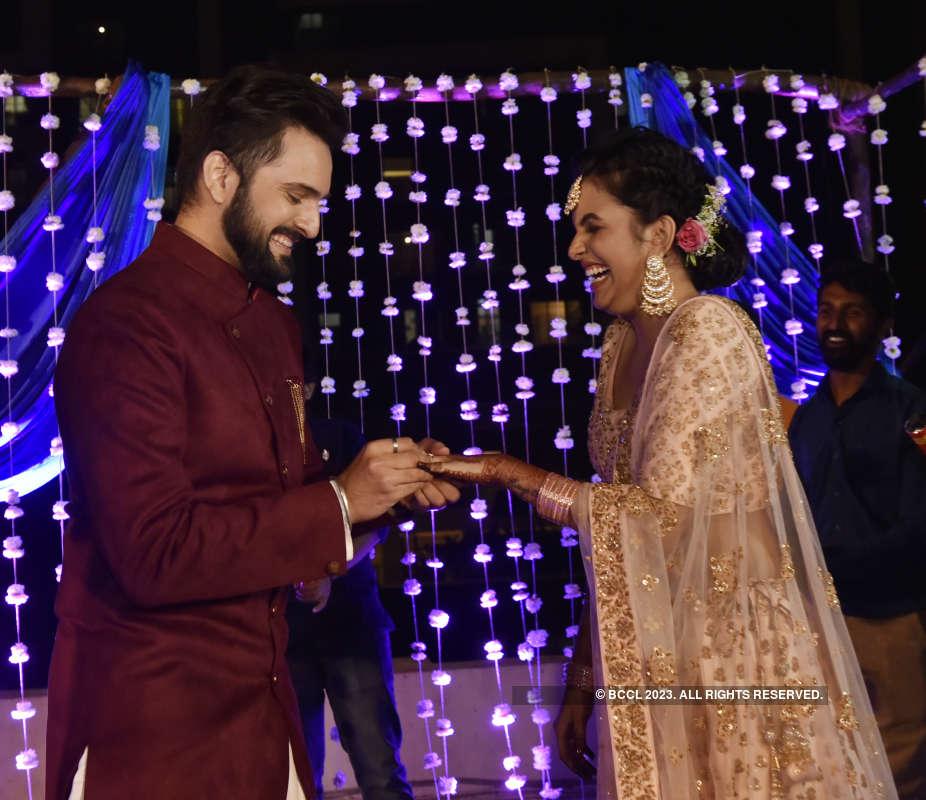 Siddharth Chandekar and Mitali Mayekar's star-studded engagement