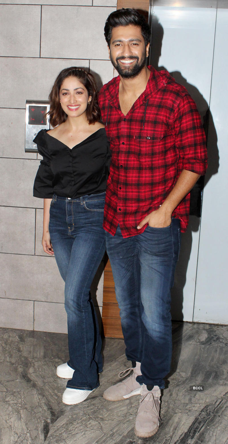 Vicky Kaushal, Yami Gautam and team of 'Uri' celebrate film's success