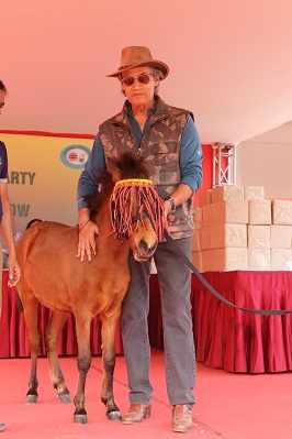 ANil Mukerji with the pony, Sara