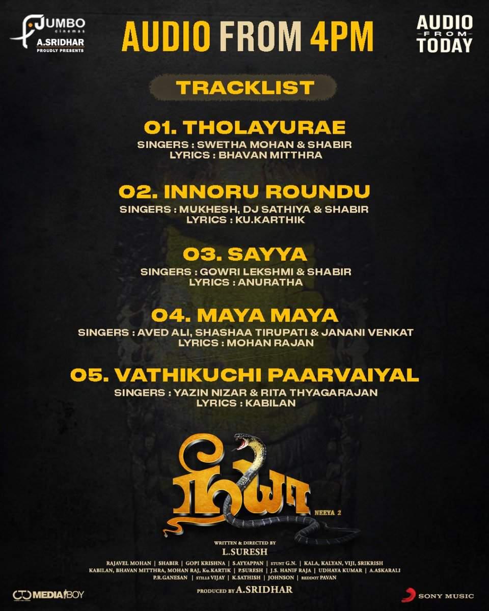 Neeya 2 tracklist
