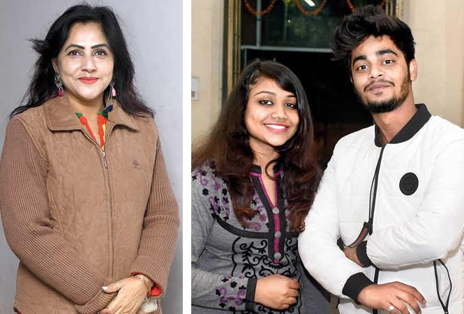 (L) Rakhi Jaiswal (R) Prachi Baranwal and Yash Chauhan (BCCL/ Vishnu Jaiswal)