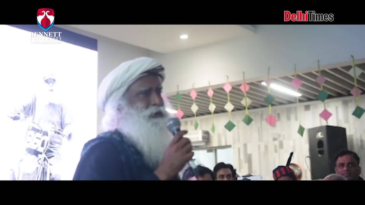 An #Unplugged session with Sadhguru at Bennett University