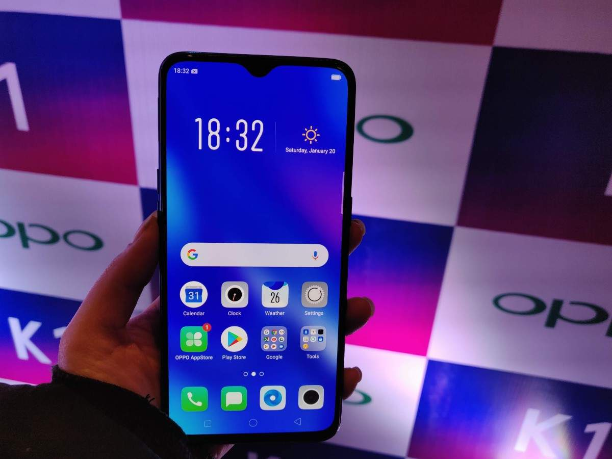 Oppo launched Oppo K1 with in-display fingerprint sensor at Rs 16,990