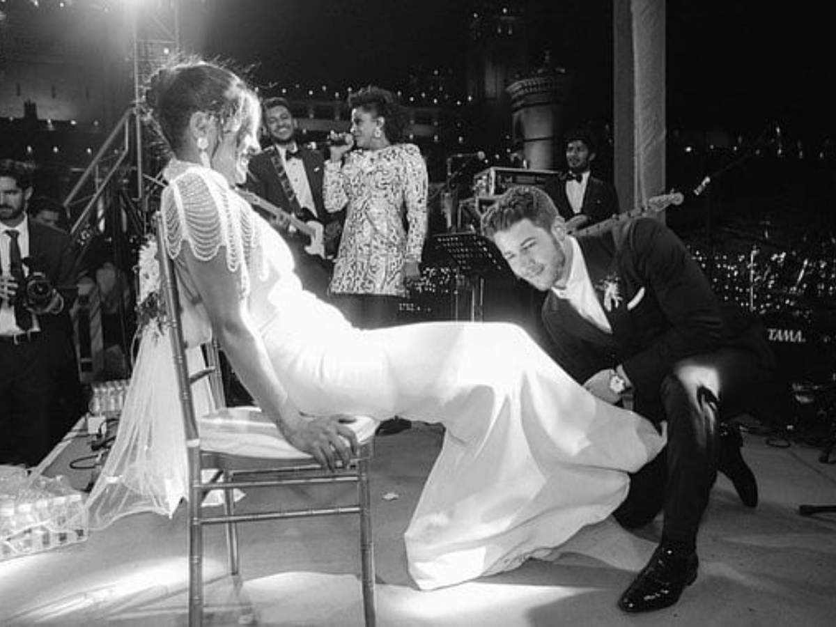 This Picture Of Priyanka Chopra And Nick Jonas From The 'garter Tradition' Will Surely Melt Your Hearts