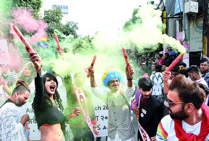The parade kick-started with the members bursting colour crackers (BCCL/ Farhan Ahmad Siddiqui)