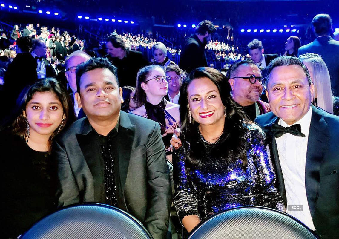 After niqab controversy, AR Rahman poses in style with daughter Raheema at Grammy Awards