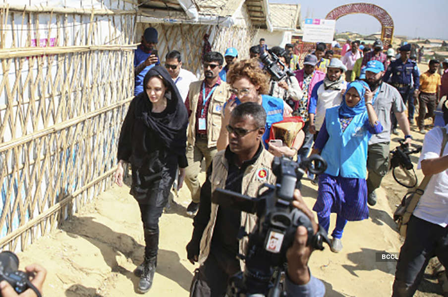 Angelina Jolie was humbled by her refugee camp visit in Bangladesh