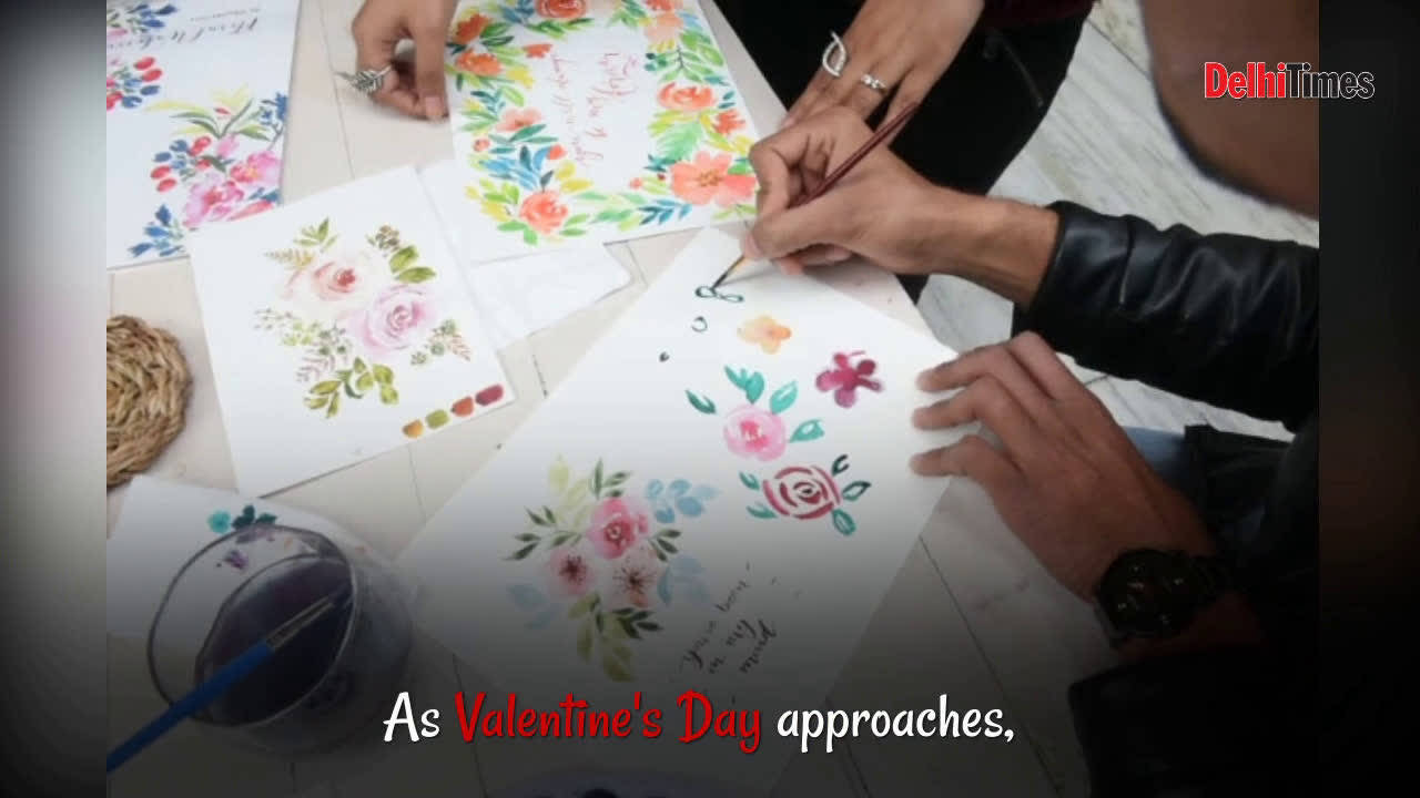 Handmade greetings cards a hit this Valentine's Day
