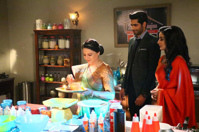 Sambhabana Mohanty shooting for the baking sequence on Rajaa Betaa (5)