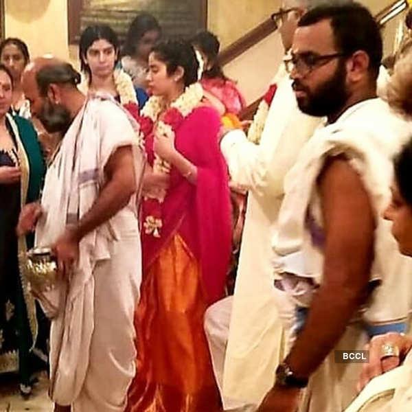 Sridevi's 3rd Death Anniversary: Boney Kapoor & daughters Janhvi Kapoor and Khushi Kapoor perform puja