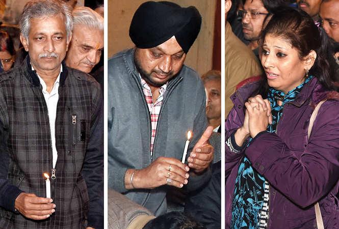 (L) Rakesh Pandey (C) Dicky Singh (R) Tanya Suri (BCCL/ Farhan Ahmad Siddiqui)
