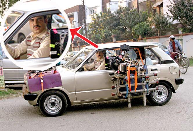 Pankaj Tripathi (inset) while shooting in Nirala Nagar, Lucknow (BCCL/ Aditya Yadav)