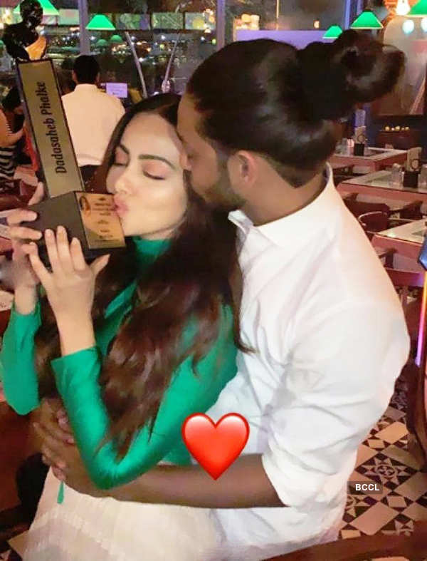 Romantic pictures of much-in-love couple Sana Khaan and beau Melvin Louis