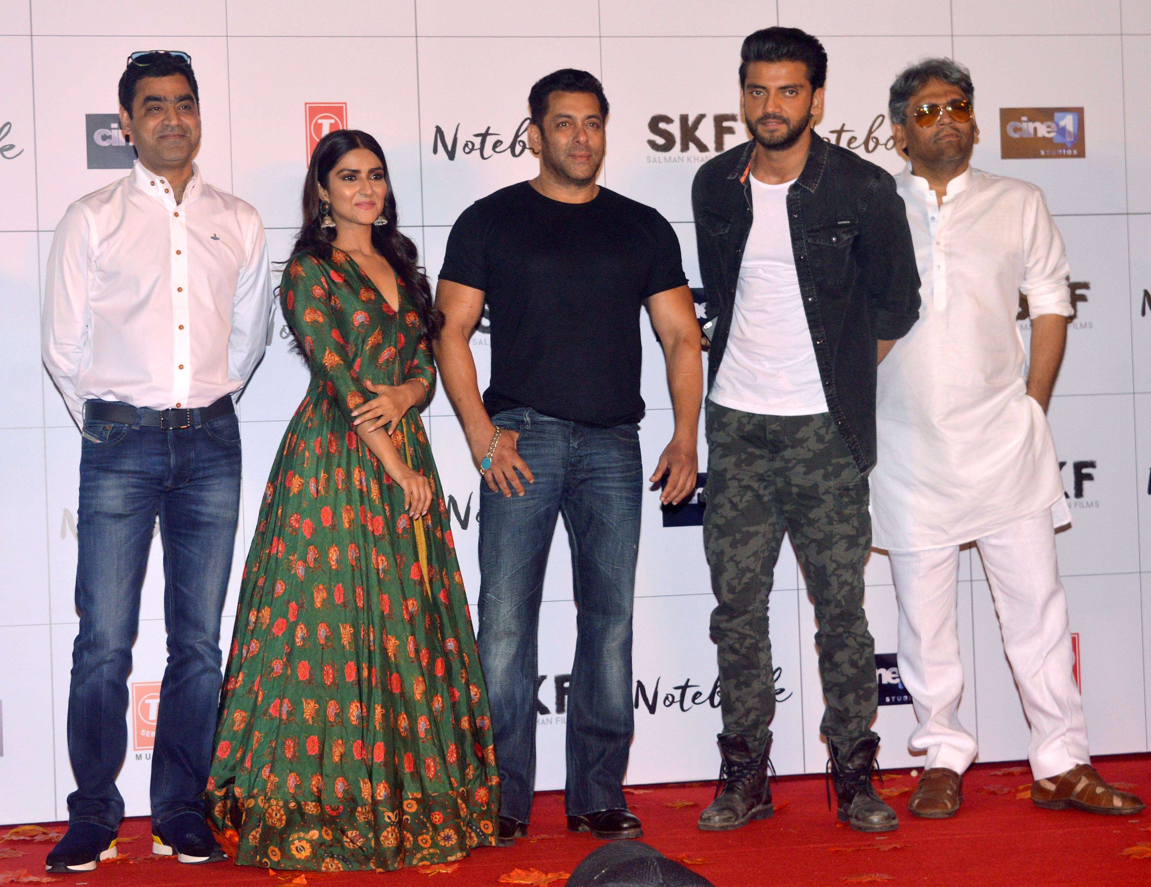 128e8ebc Notebook': Salman Khan launches the trailer of the film with lead ...