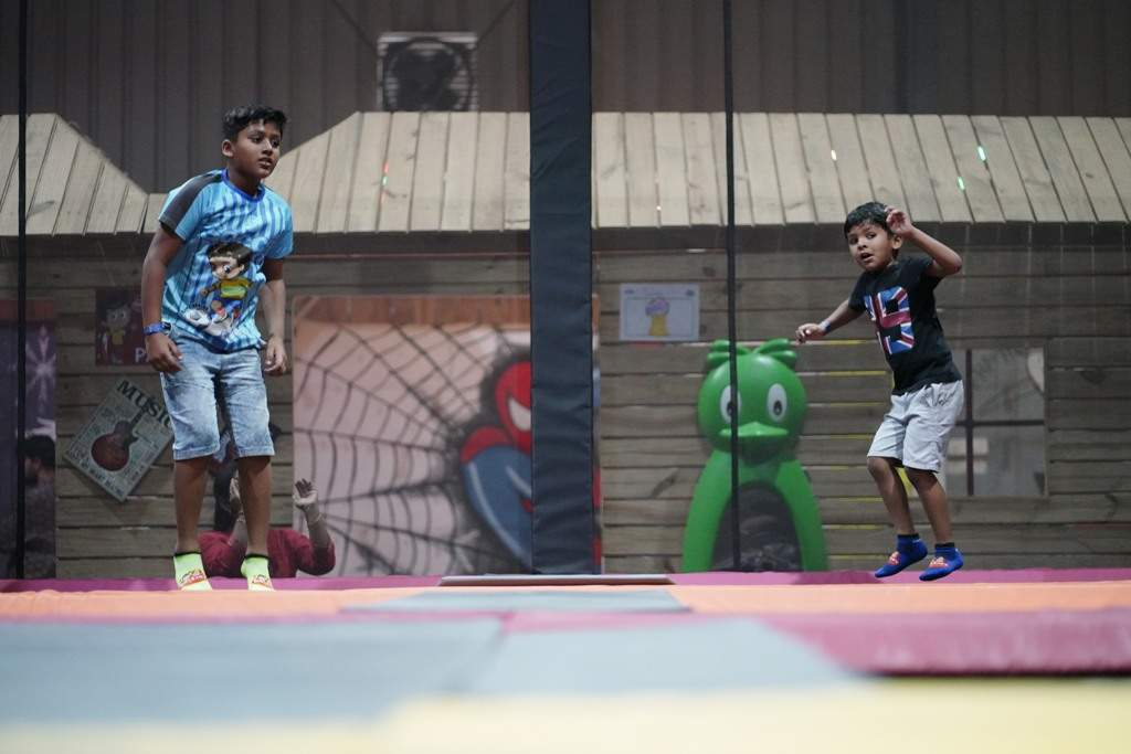 Seen Kids are playing at Sim and Sam's Party&Plytown Kompally as a part of Play For CRPF program pic-2