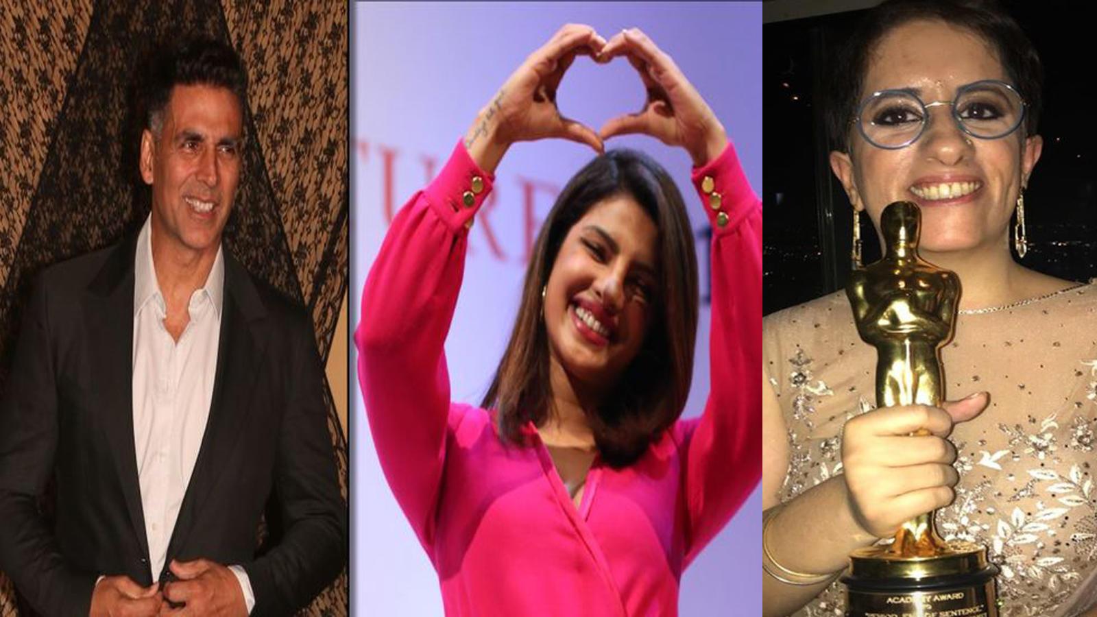 Priyanka Chopra, Akshay Kumar congratulates Guneet Monga for winning Oscar