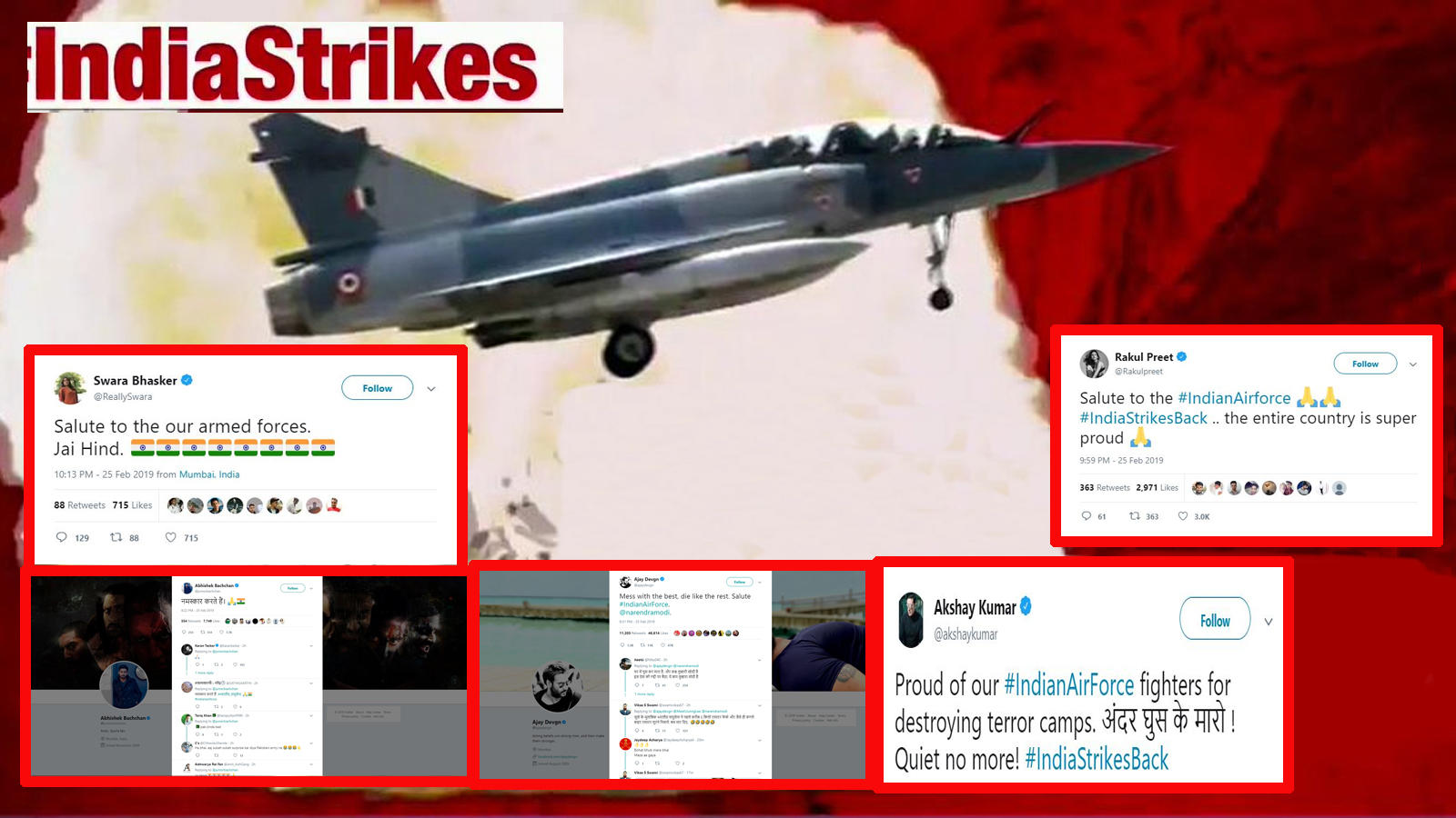 Indian Air Force strikes in Pakistan: Bollywood celebs laud armed forces after Balakot air strike