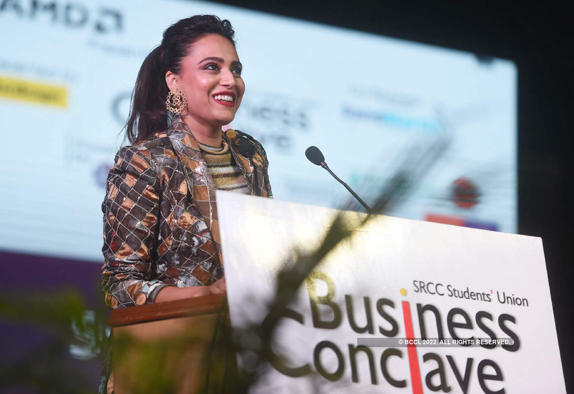 Swara Bhasker and Prasoon Joshi attend Business Conclave 2019