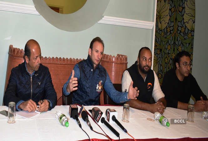 Bady Kabir, Benoiet Perrier, Angad Deo Mandawa and Shivarjun Mandawa at the press conference of 'Gallops of India'