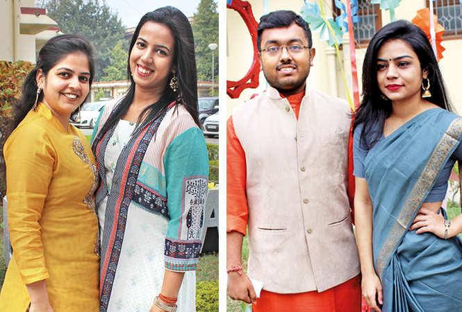 (L) Mugdha and Yashasvi (R) Nayan and Chetali (BCCL/ Arvind Kumar)