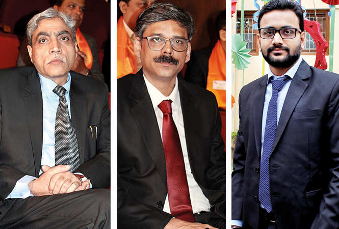 (L) PS Tripathi (C) SK Dubey (R) Rishi (BCCL/ Arvind Kumar)