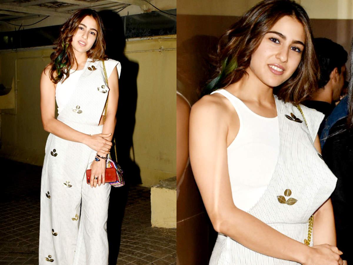 Sara Ali Khan stuns in a pant sari at Sonchiriya's ...Sara Khan In Saree