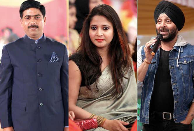 (L) Mukesh Singh (C) Poonam (R) Kultar Singh (BCCL/ Aditya Yadav)