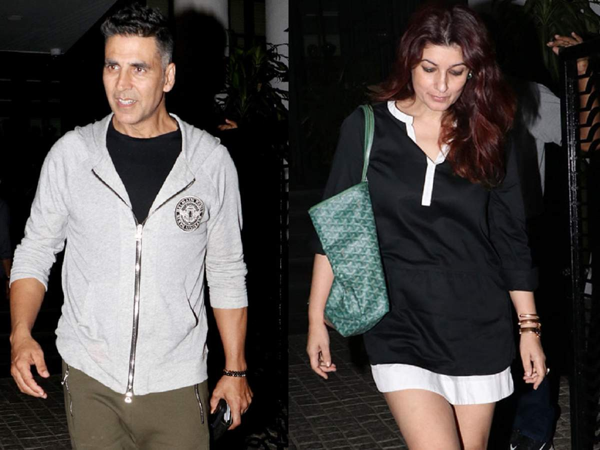 32ef8766cf1bc Photos: Akshay Kumar steps out for dinner date with wifey Twinkle Khanna