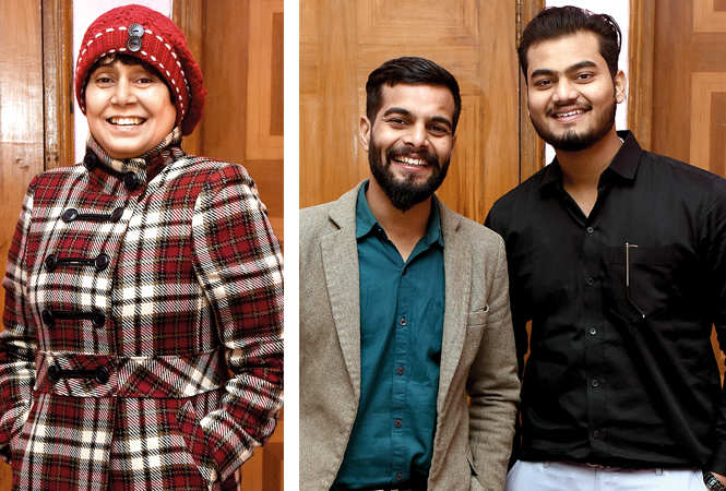 (L) Satya Singh Human (R) Veer Yadav and Aman Chaudhary (BCCL/ Vishnu Jaiswal)