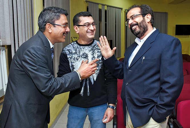 (L-R) Harsh Joshi, Varun Sahani and Deepak Raj Kumar  (BCCL/  Vishnu Jaiswal)