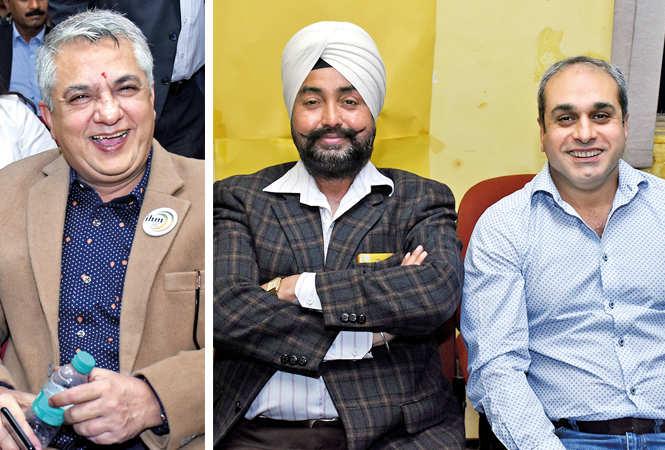 Vishal Sahni (R) PP Singh and Pankaj Kaul (BCCL/  Vishnu Jaiswal)