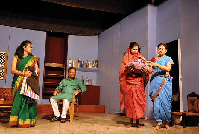 A scene from the play Kamla (BCCL)