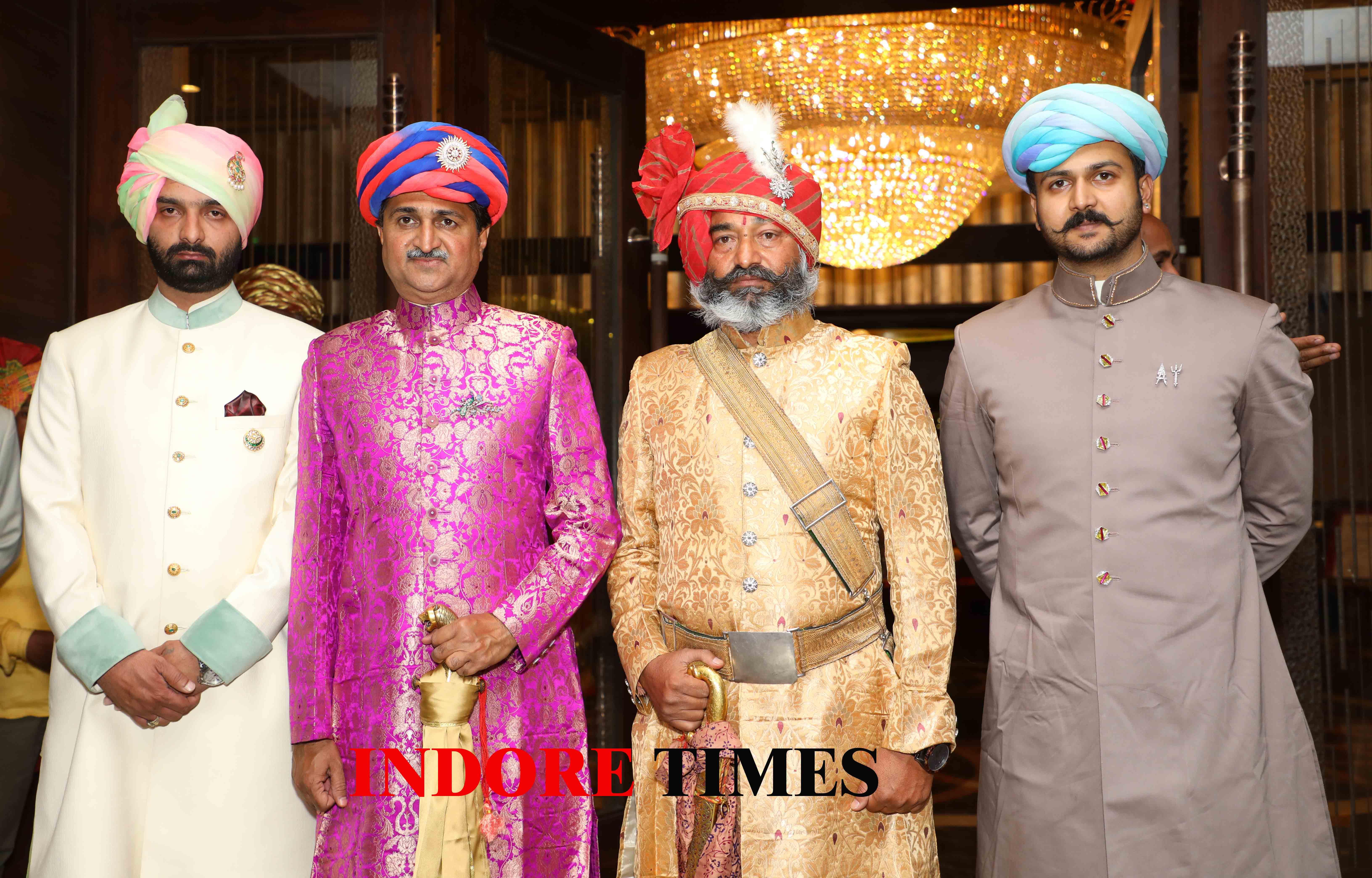 Maharaj Akshayraj Singh Deo of Maihar, Raja Mandhatasinh Jadeja, Raja Shaliwahan, Yuvraj Jaideepsinh_edit