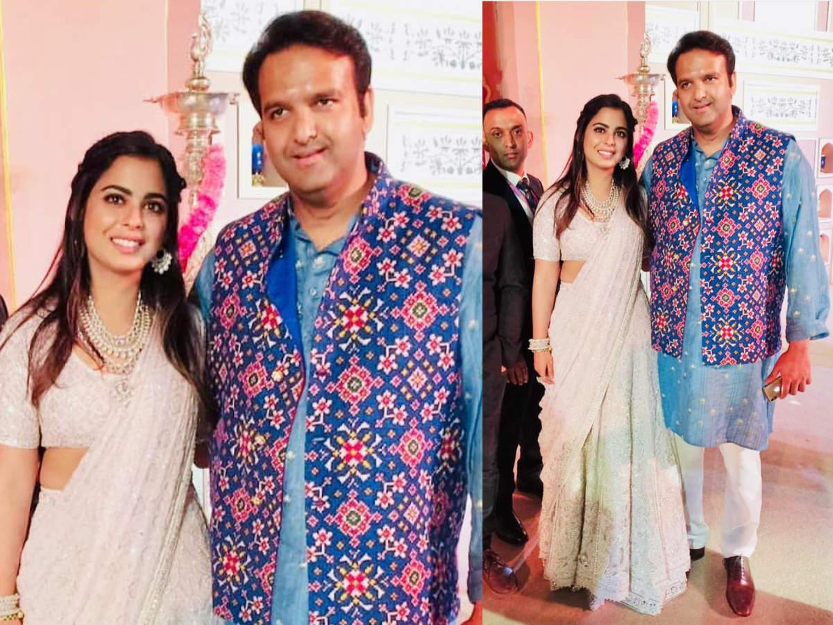 Isha Ambani and Anand Piramal at Akash Ambani and Shloka Mehta's mehendi