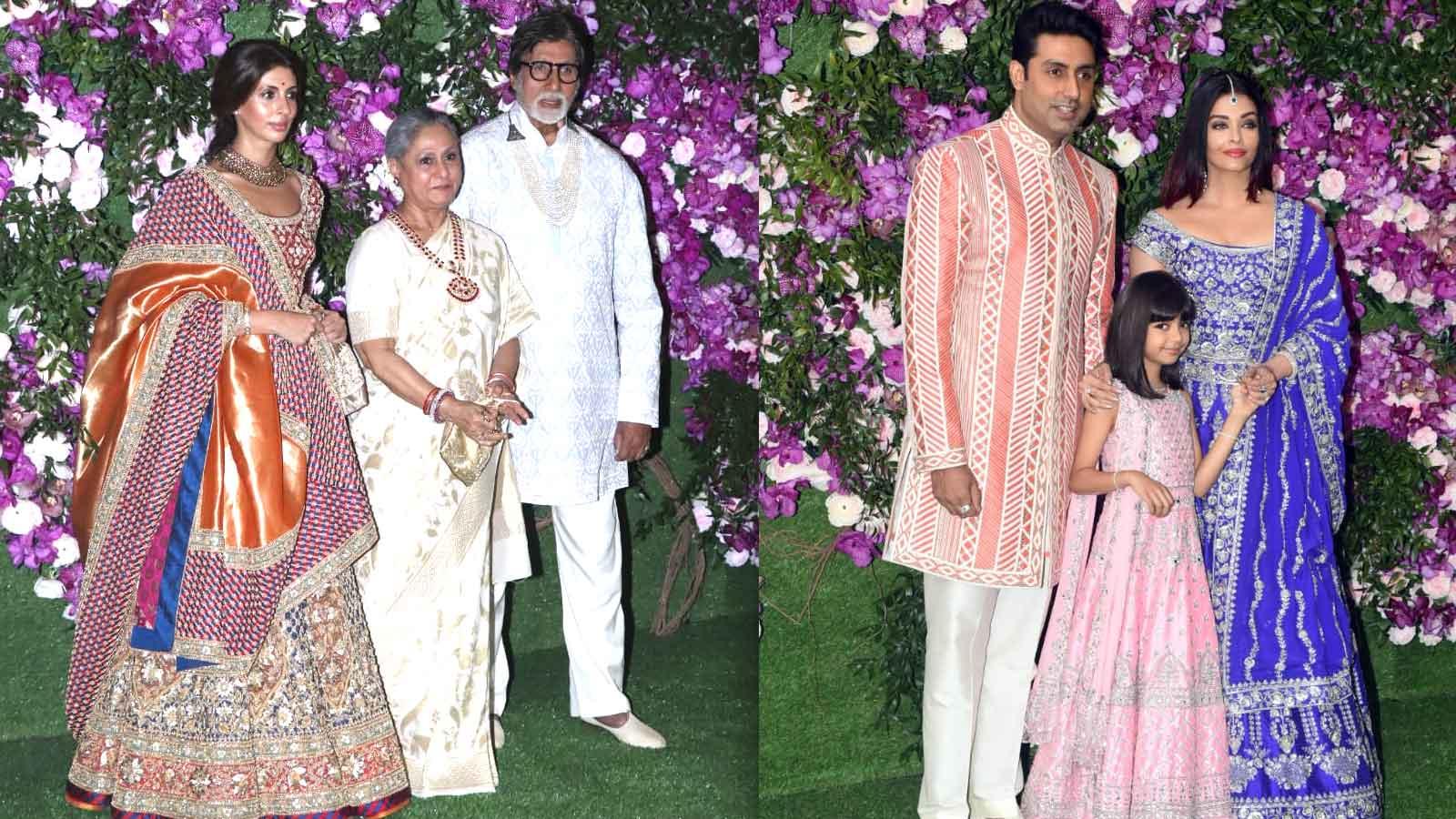 Amitabh Bachchan with family graces Akash Ambani-Shloka Mehta's grand wedding