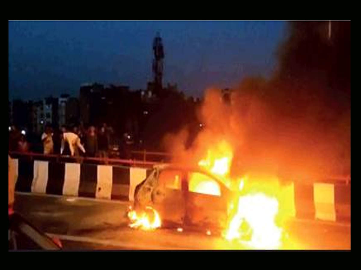 Car Fire News India