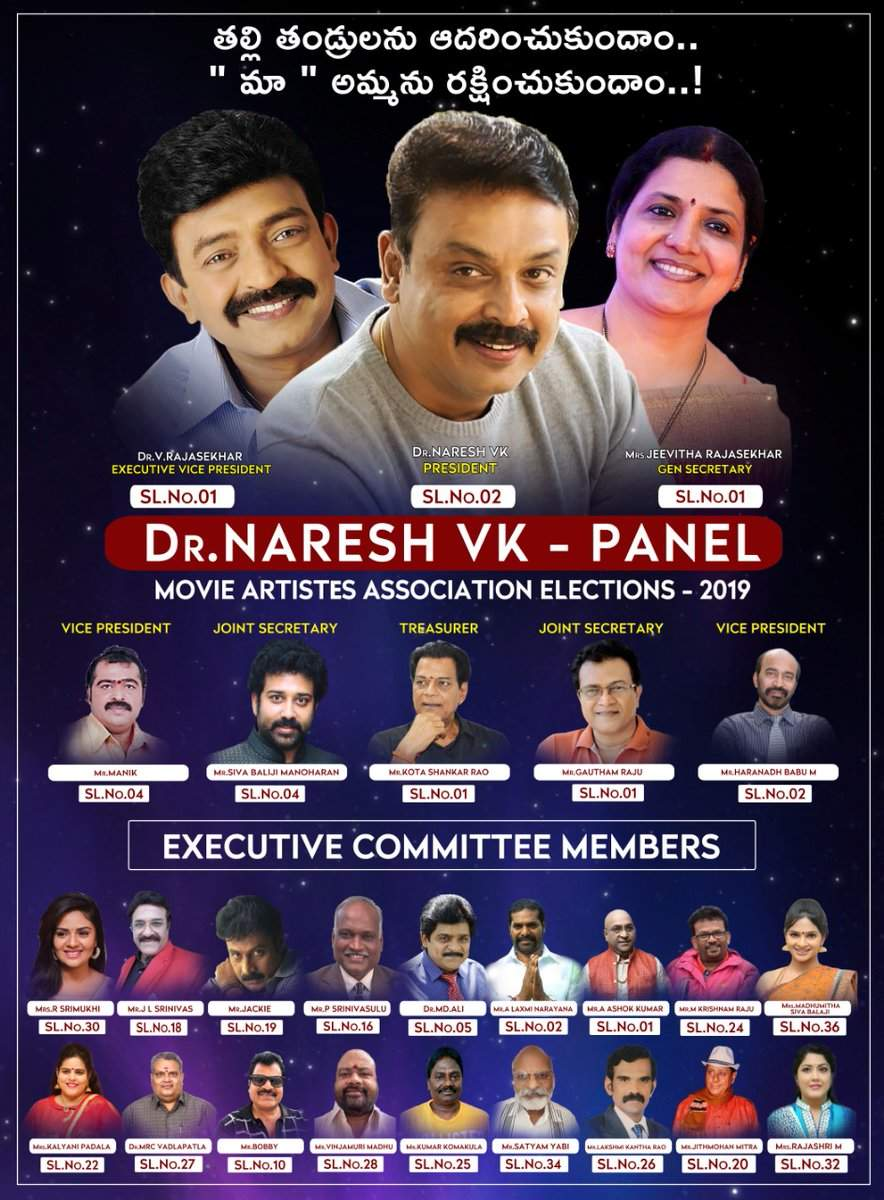 Movie Artists Association New Committee 2019