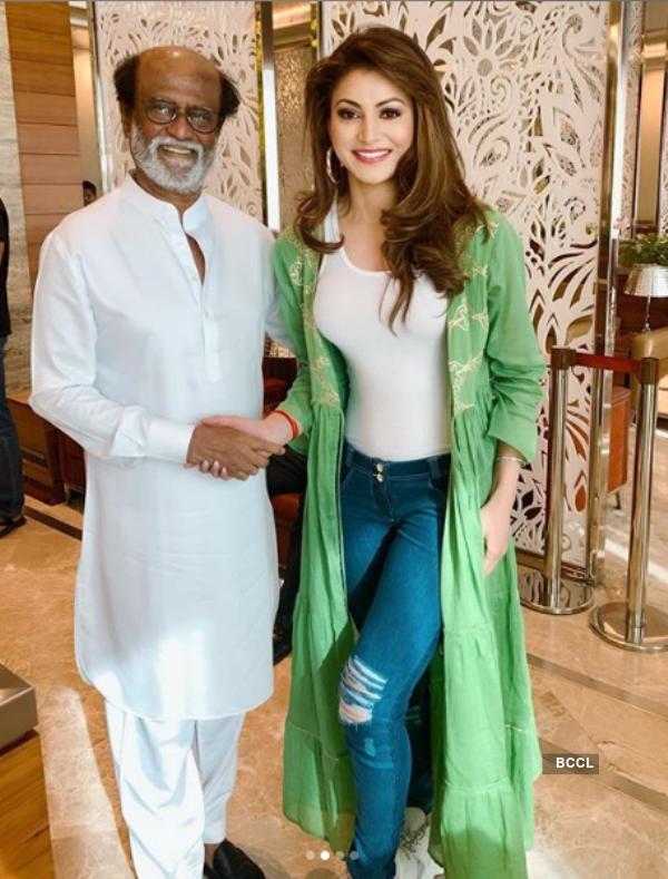 Urvashi Rautela has her fangirl moment with Rajnikanth