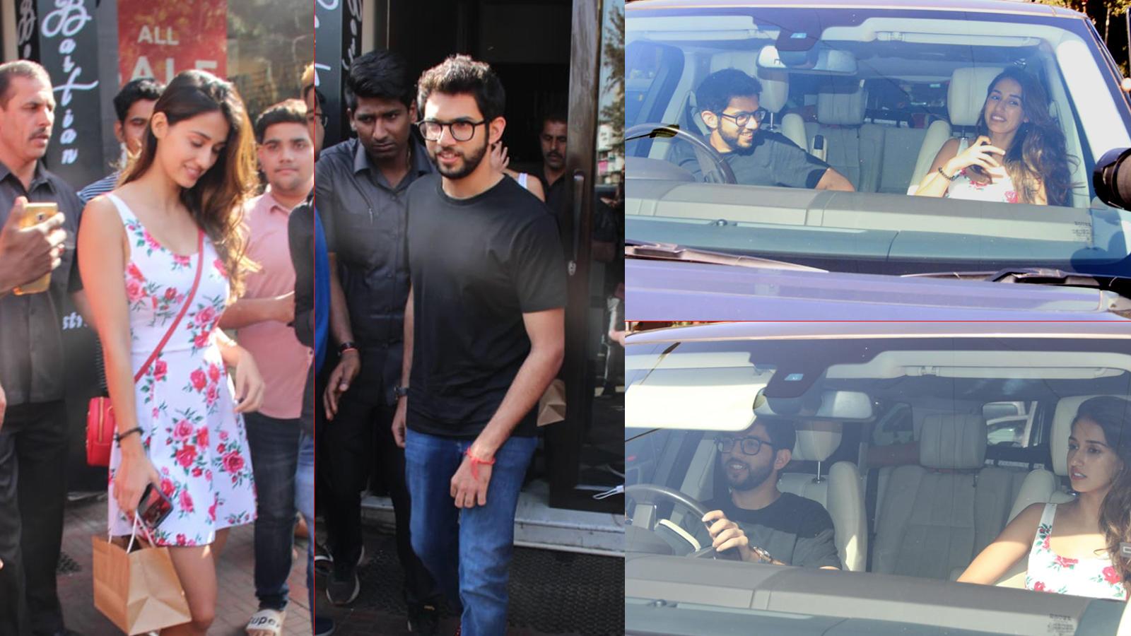 Disha Patani spotted chilling with Aditya Thackeray